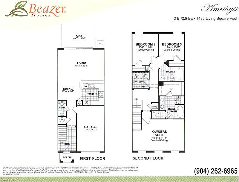 Verano at bartram park community in jacksonville florida for Beazer homes floor plans
